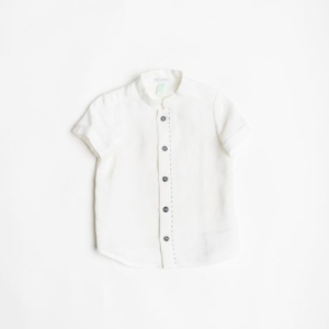 Camicia manica corta 100% Canapa – da 2 a 8 anni