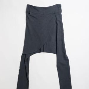 Pantalone cavallo basso in tess e fresco lana