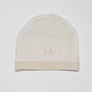 Cappellino in maglieria di Ortica doppiato jersey di Cotone bio certificato GOTS