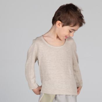 Maglietta in maglieria di lino