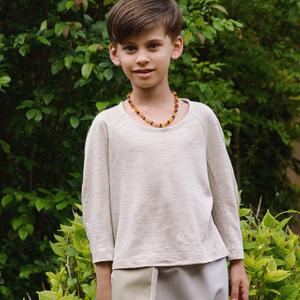 Maglietta in maglieria di lino – da 2 a 12 anni
